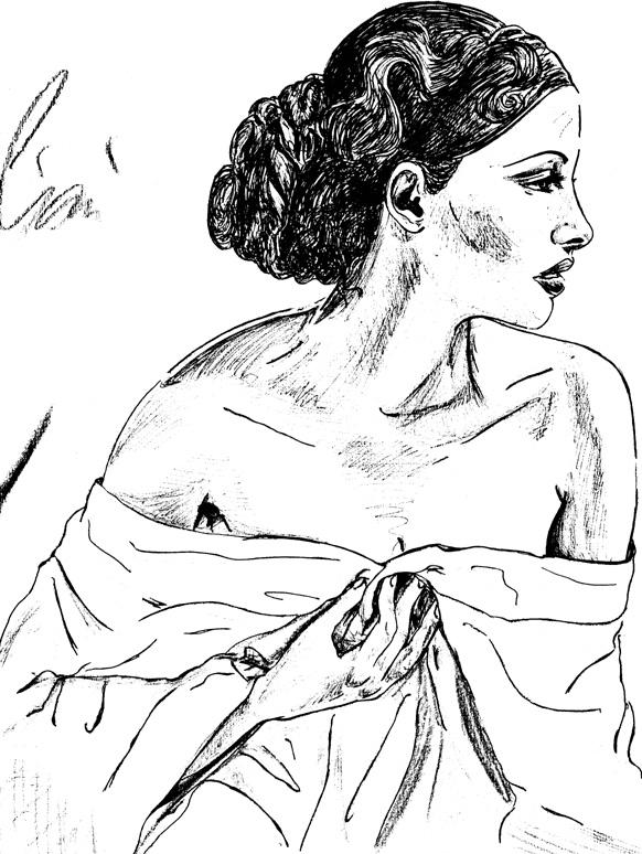 donna con lenzuolo