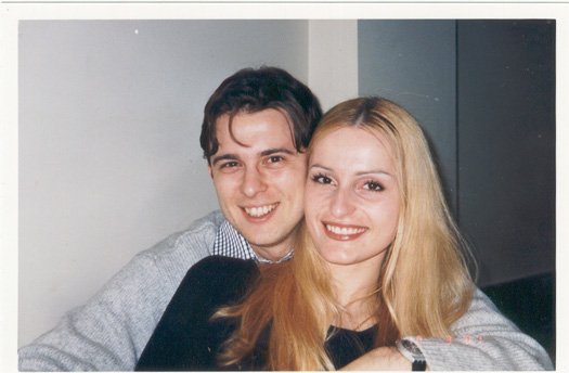 me and Stef at his 28th BDay in March 2001